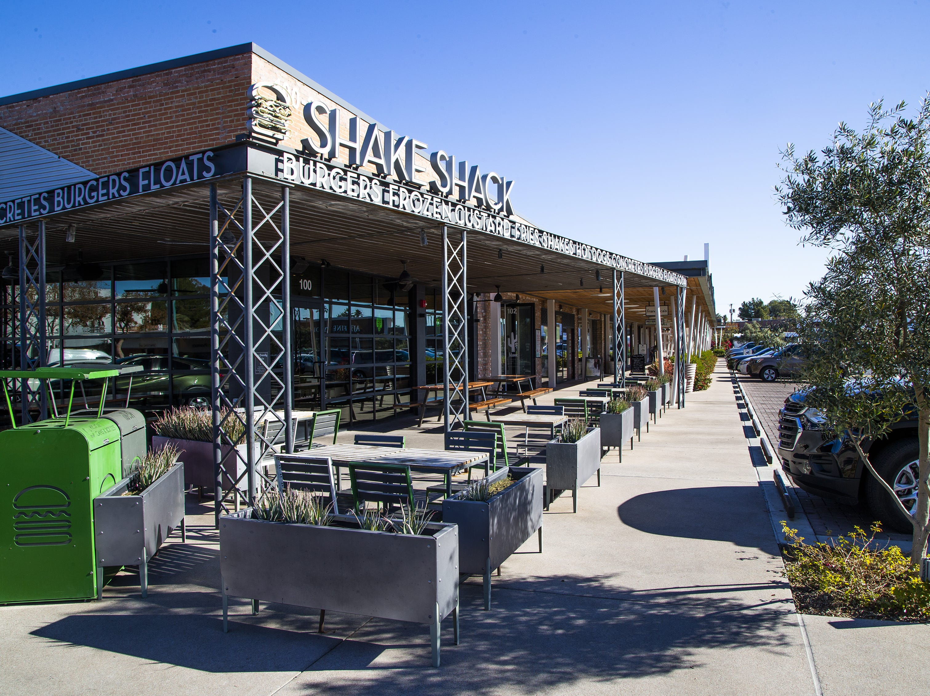 The Shake Shack is a restaurant at Uptown Plaza, a strip mall at the intersection of Camelback Road and Central Avenue in Phoenix. Phoenix-based Levine Investments, led by Bill Levine, paid  $51.65 million for the center.