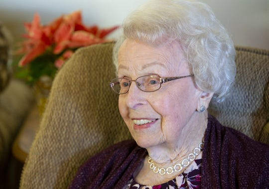 Violet Nelson Seaman turned 100 years old on Dec. 22. She believes in moderation, but likes her enchiladas.