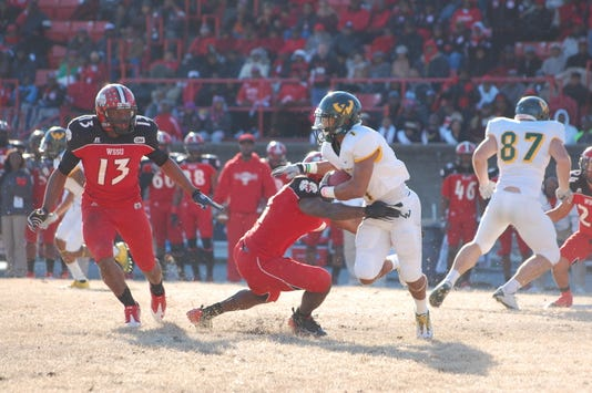 Troy Burrell against Winston Salem State