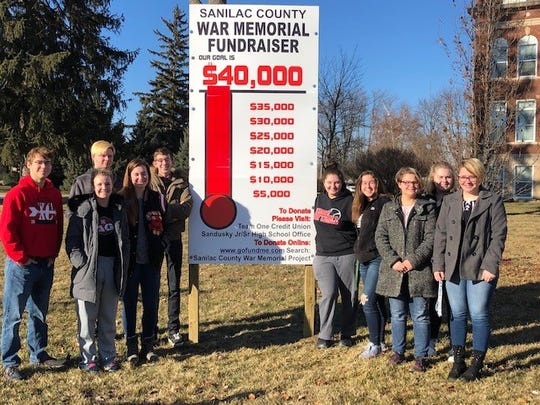 A loosely organized group of Sandusky High School students have already raised more than $40,000 for a new war memorial after about two months of fundraising.