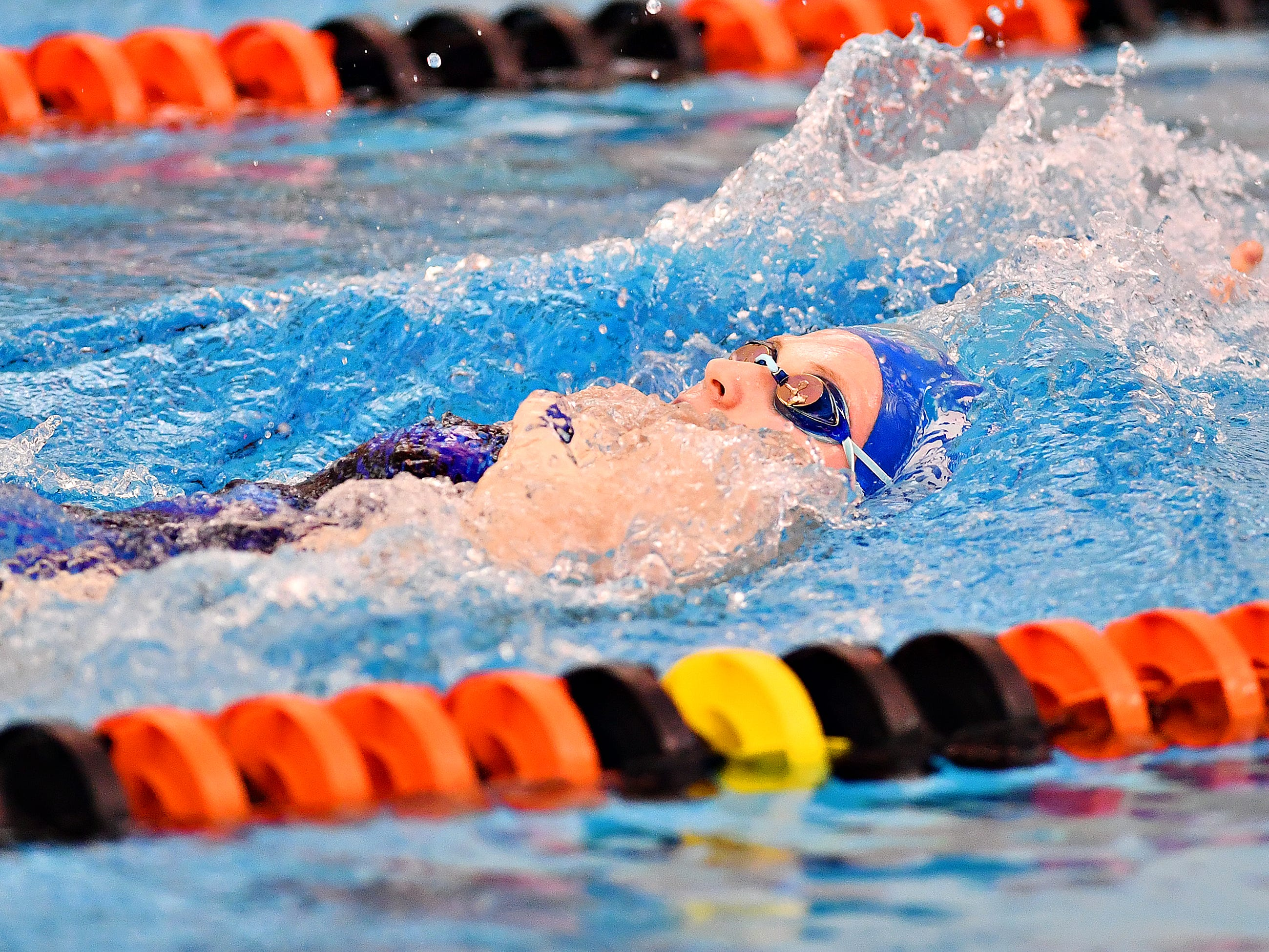 Spring Grove's Megan Heist competes in the 200 Yard Individual Medley during swimming action against Central York at Central York High School in Springettsbury Township, Thursday, Jan. 3, 2019. Dawn J. Sagert photo