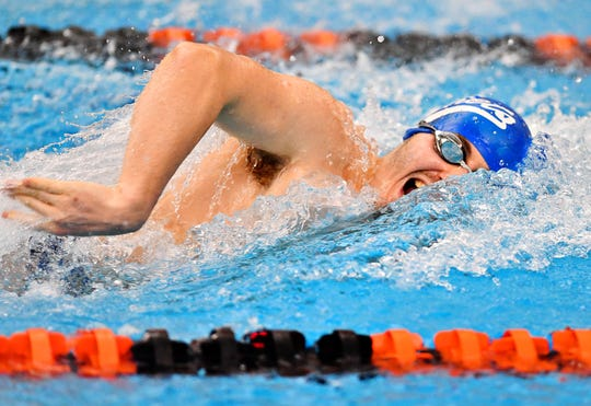 Spring Grove senior Brian McGlynn is expected to compete in the 50 freestyle and the 100 backstroke at the York-Adams League Swimming Championships.