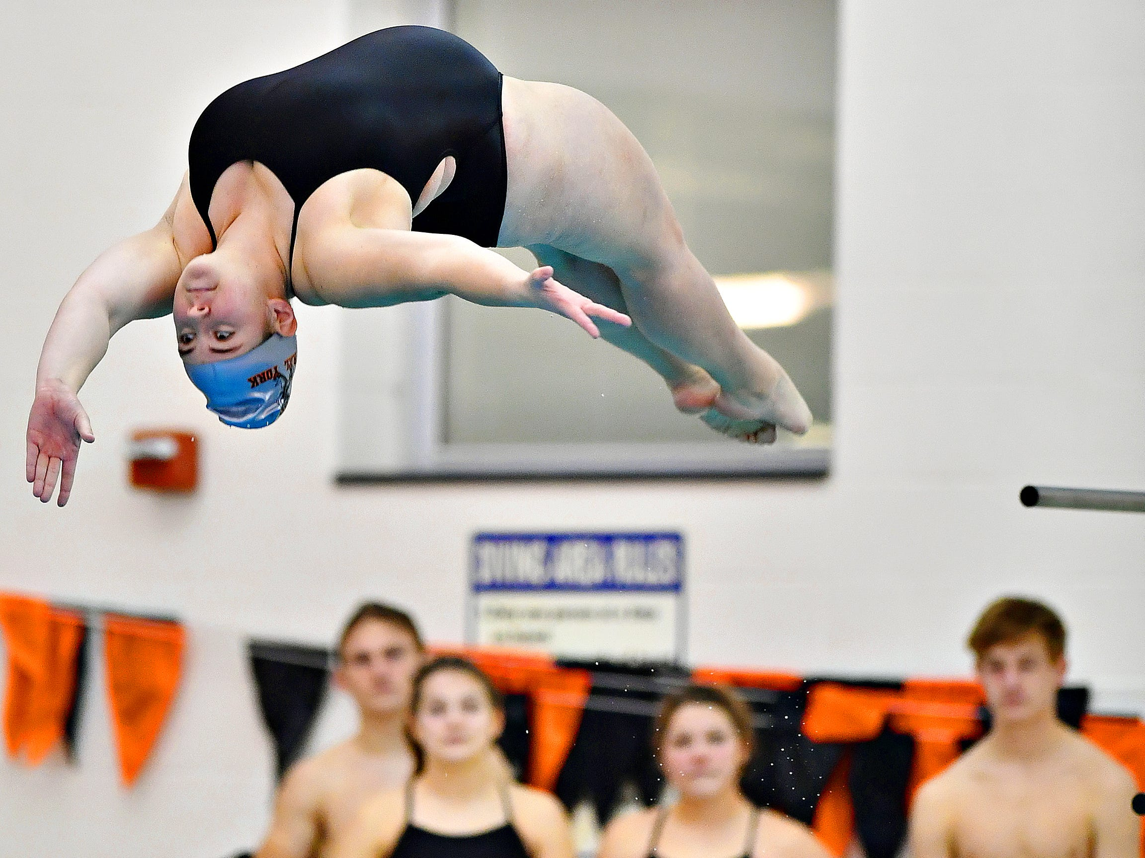 Spring Grove vs Central York during swimming action at Central York High School in Springettsbury Township, Thursday, Jan. 3, 2019. Dawn J. Sagert photo
