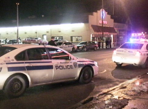 A woman in her early 30s was shot and wounded inside Gitsis Texas Hots restaurant at 600 Monroe Ave., in Rochester about 3:17 a.m. on Sunday, Jan. 13, 2013. She was taken to Strong Memorial Hospital. The alleged shooter, a man in his early 30s, is in police custody.