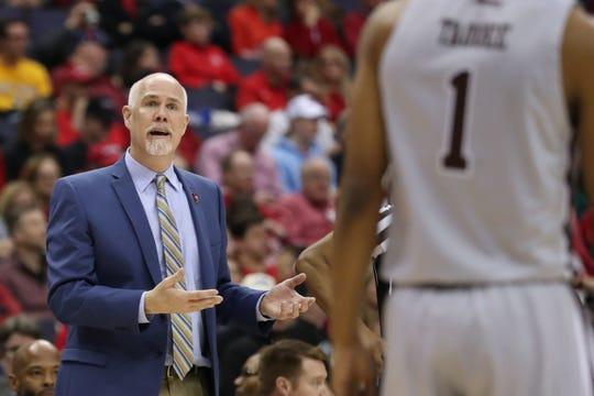 St. Bonaventure head basketball coach Mark Schmidt.