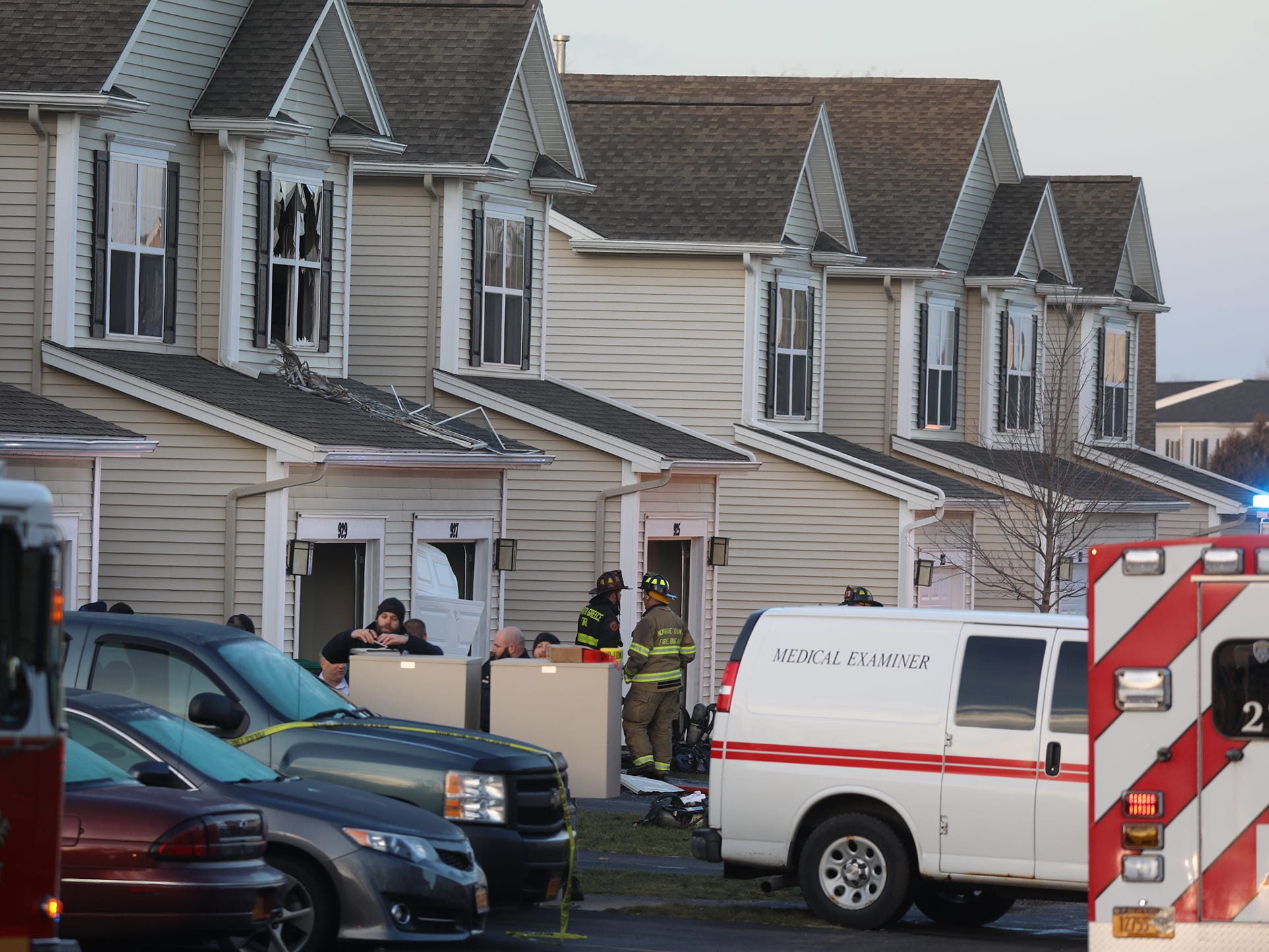 A woman was found dead after Lake Shore Fire Department responded to an early morning fire at Long Pond Shores Waterfront Apartments on Pond View Heights. Police and the Monroe County Fire Bureau are investigating the cause of death and the cause of the fire in the two-story townhouse.