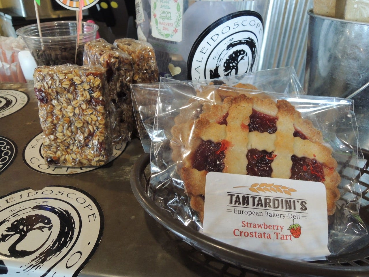 Some of the pastries and house-made health bars at Kaleidoscope Coffee on Athens Avenue.