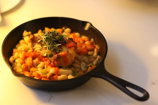 Filberts Farmhouse Kitchen features a take on the French classic cassoulet ($18) made with chicken, Applewood smoked bacon, fresh herbs, white beans and root vegetables.