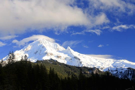Snow is possible in Oregon's high mountain Cascade Range peaks this weekend.