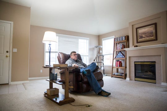 Jim Holstein, a retiree from California who moved to south Salem in July of 2018, in his home on Thursday. Oregon was ranked again as one of the top moving destinations in 2018 by several major moving companies.
