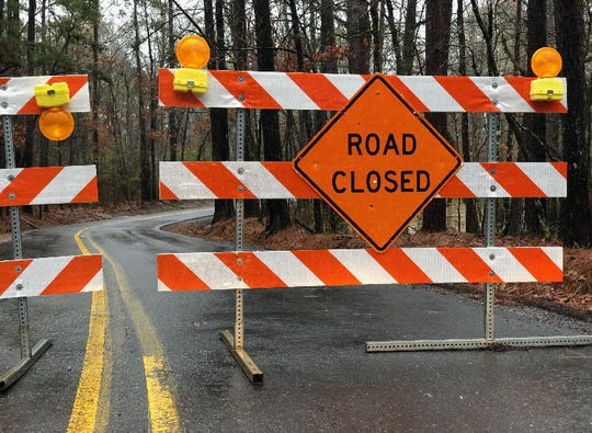 Keithville-Kingston Road in Caddo Parish is closed due to high water.