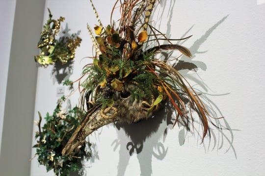 A nature mask created by Fantasy Mask Designer Dennis Beckman.