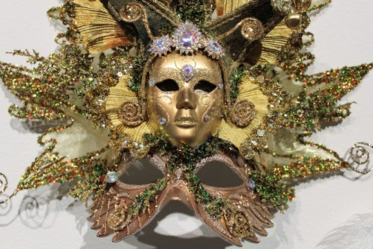 A Mardi Gras mask custom made by Fantasy Mask Designer Dennis Beckman.