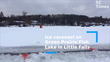 Little Falls resident Chuck Zwilling plans to carve an ice carousel for the second annual event on Green Prairie Fish Lake Jan. 12-13.