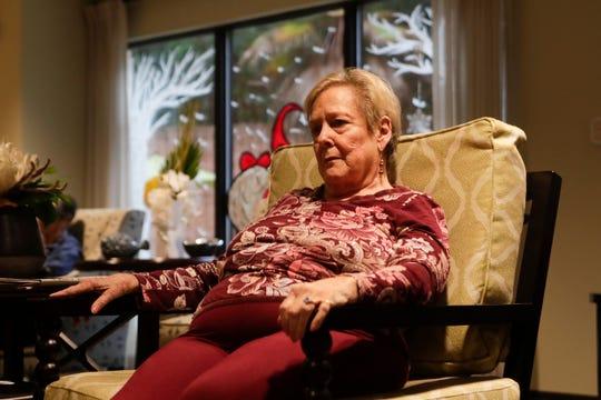 Kay Gluesenkamp, 77, listens as Lauren Mullinax plays guitar for residents at Tapestry Senior Living in Tallahassee Friday, Jan, 4, 2019.