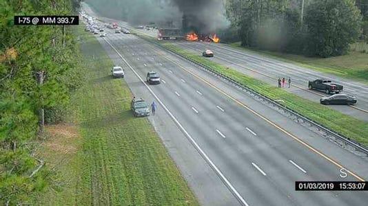 Fiery crash, I-75, children killed, church van, Gainesville