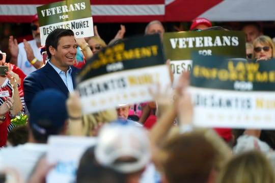Ron DeSantis, Florida's governer-elect, made a last-minute campaign stop in Vero Beach on Monday, Nov. 5, 2018, with the support of U.S. Sen. Marco Rubio and Lara Trump, daughter-in-law to President Donald Trump.