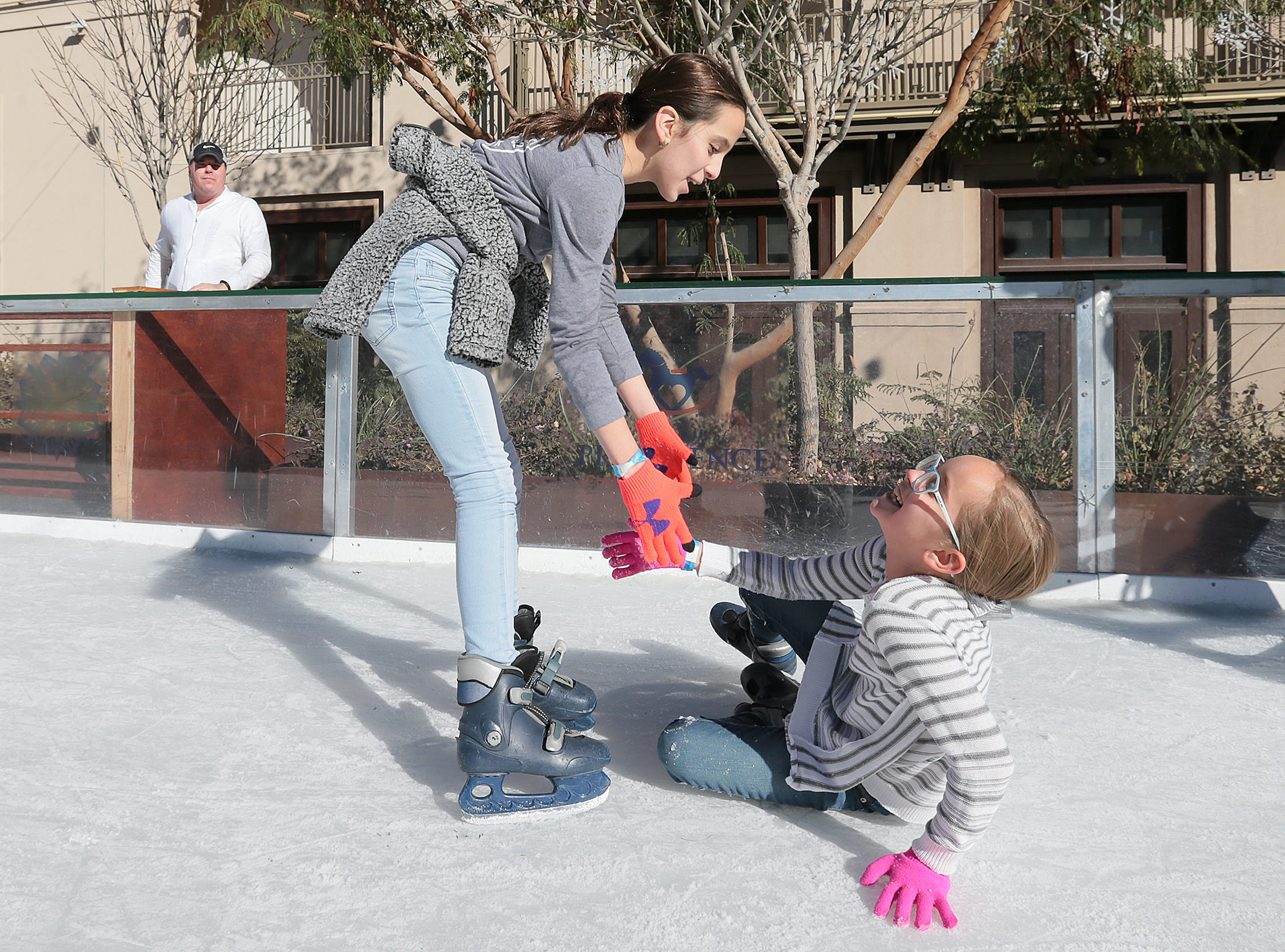 Learning to skate can include a few tumbles as WinterFest wraps up this weekend in Downtown El Paso.