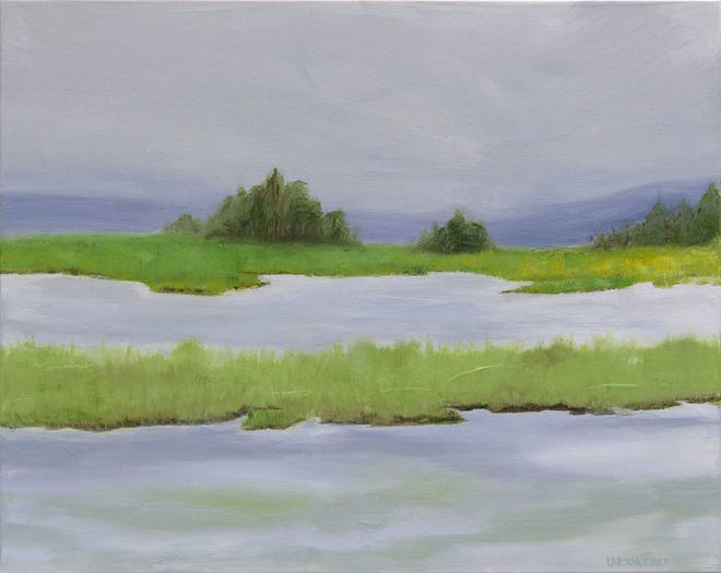 """Paintings by Gayle Lemoreau Irvine, including """"Amanda,"""" will be featuredat Gallery 50 during January."""