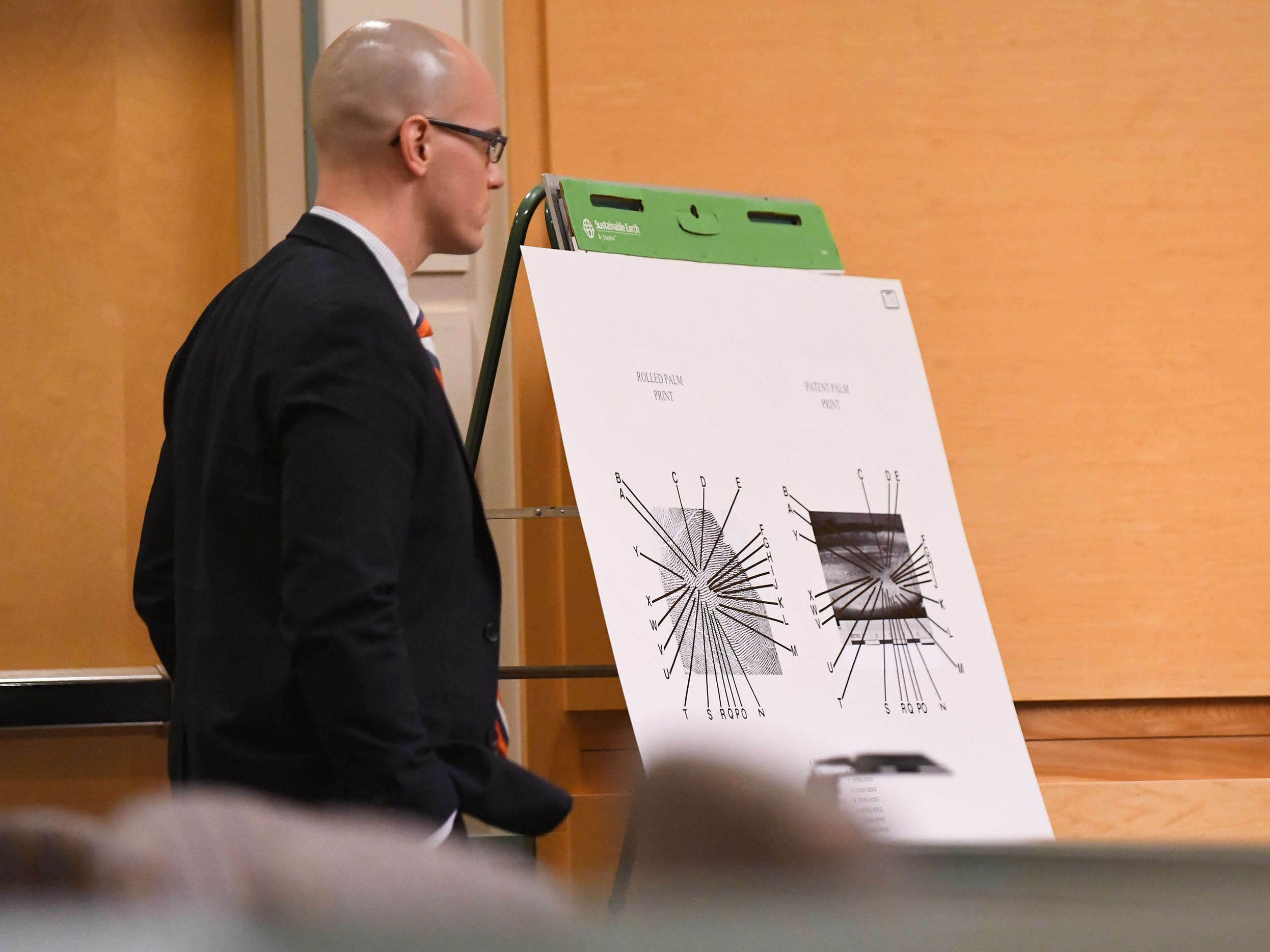 County Assistant Prosecutor Charles Wettstein speaks about a fingerprint analysis report during trial on Thursday, January 3, 2019.