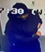 Suspect in U.S. Petroleum gas station robbery Jan. 3, 2019 from surveillance footage.