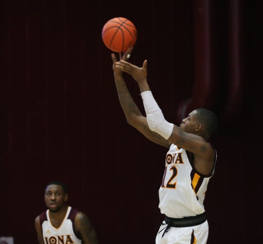 Iona forward Tajuan Agee (12) puts up a shot during the MAAC league men's basketball game at the Hynes Center at Iona College in New Rochelle on Thursday, January 3, 2019.