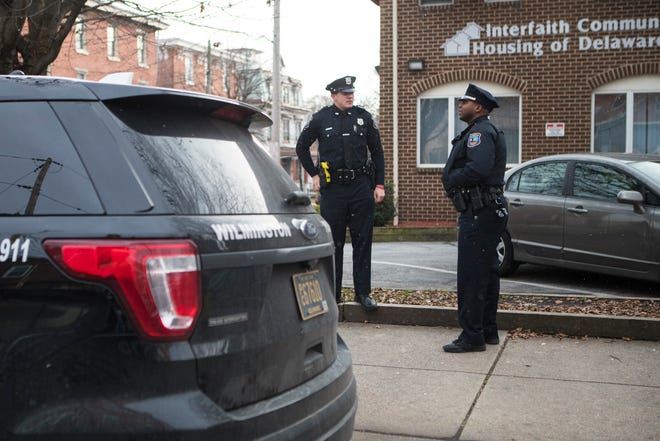 Members of the Wilmington Police Department perform a direct patrol in West Center City Wednesday, Dec. 5, 2018.