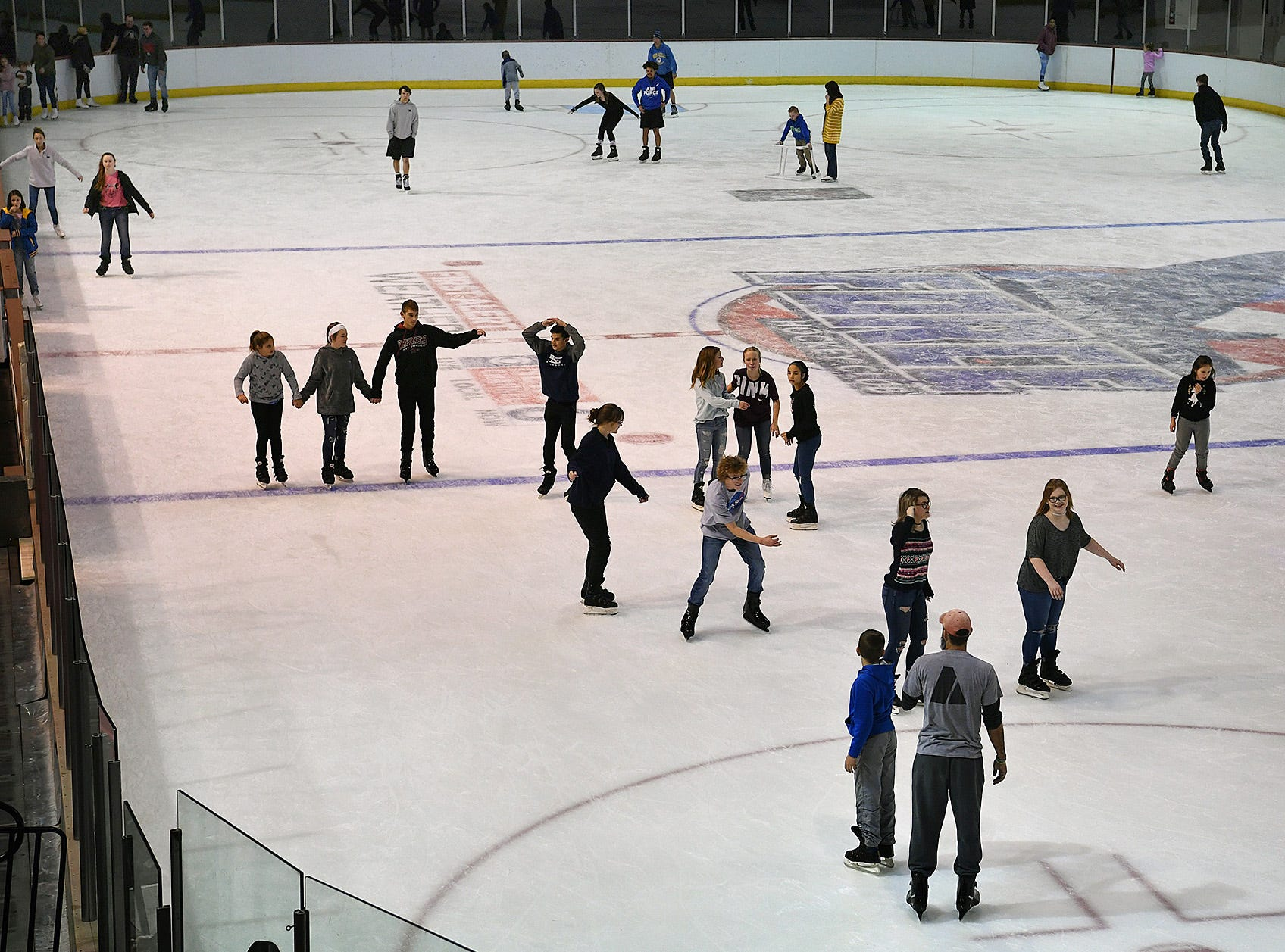 The Kay Yeager Coliseum hosted the last First Bank Open Skate event of the season Friday afternoon.