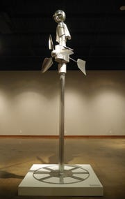 "A large wind-powered version of ""Fly High"" by MSU Texas professor of art Suguru Hiraide."