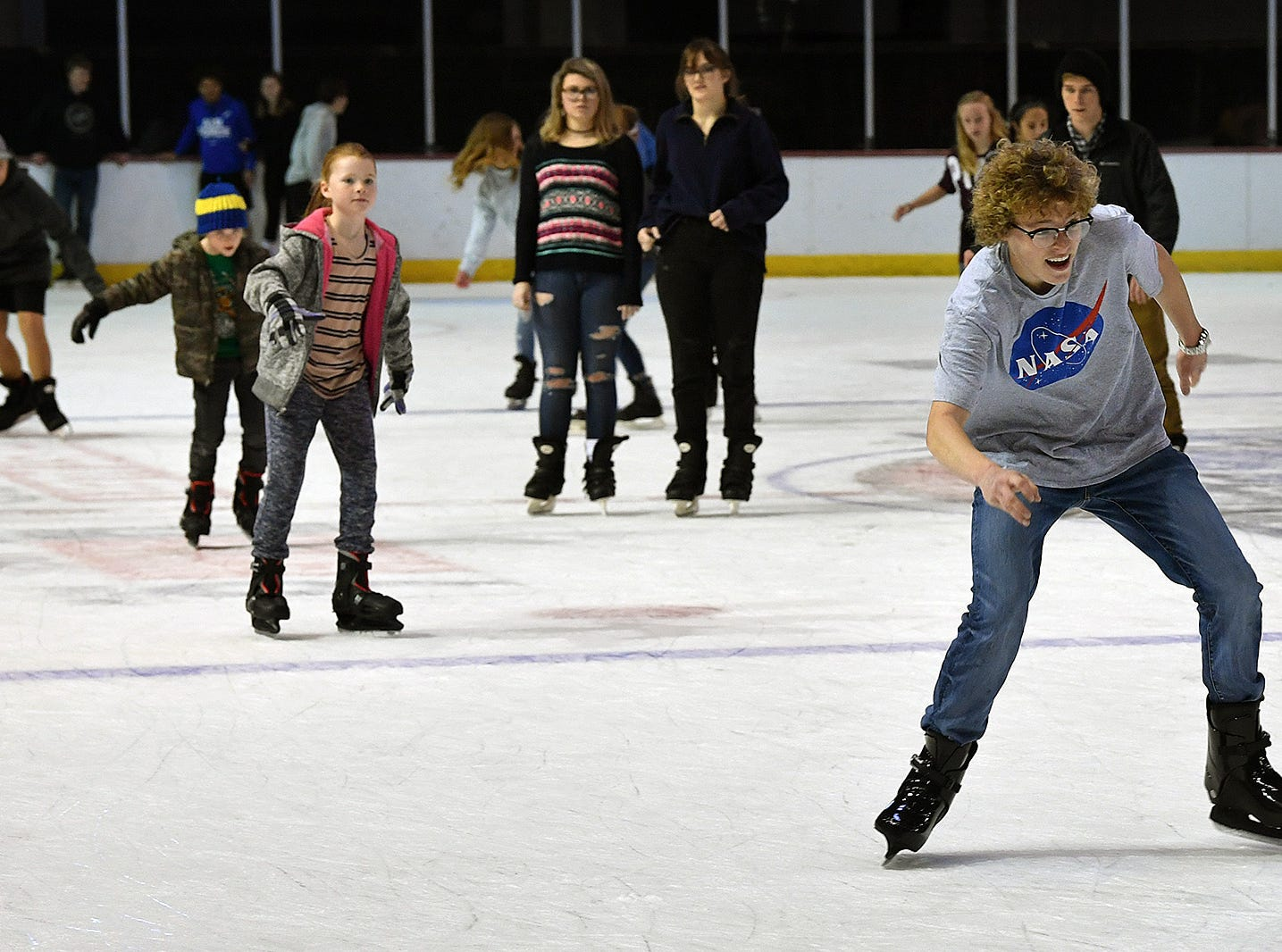 Approximately 200 people turned out Friday afternoon for a First Bank Open Skate event at the Kay Yeger Coliseum.