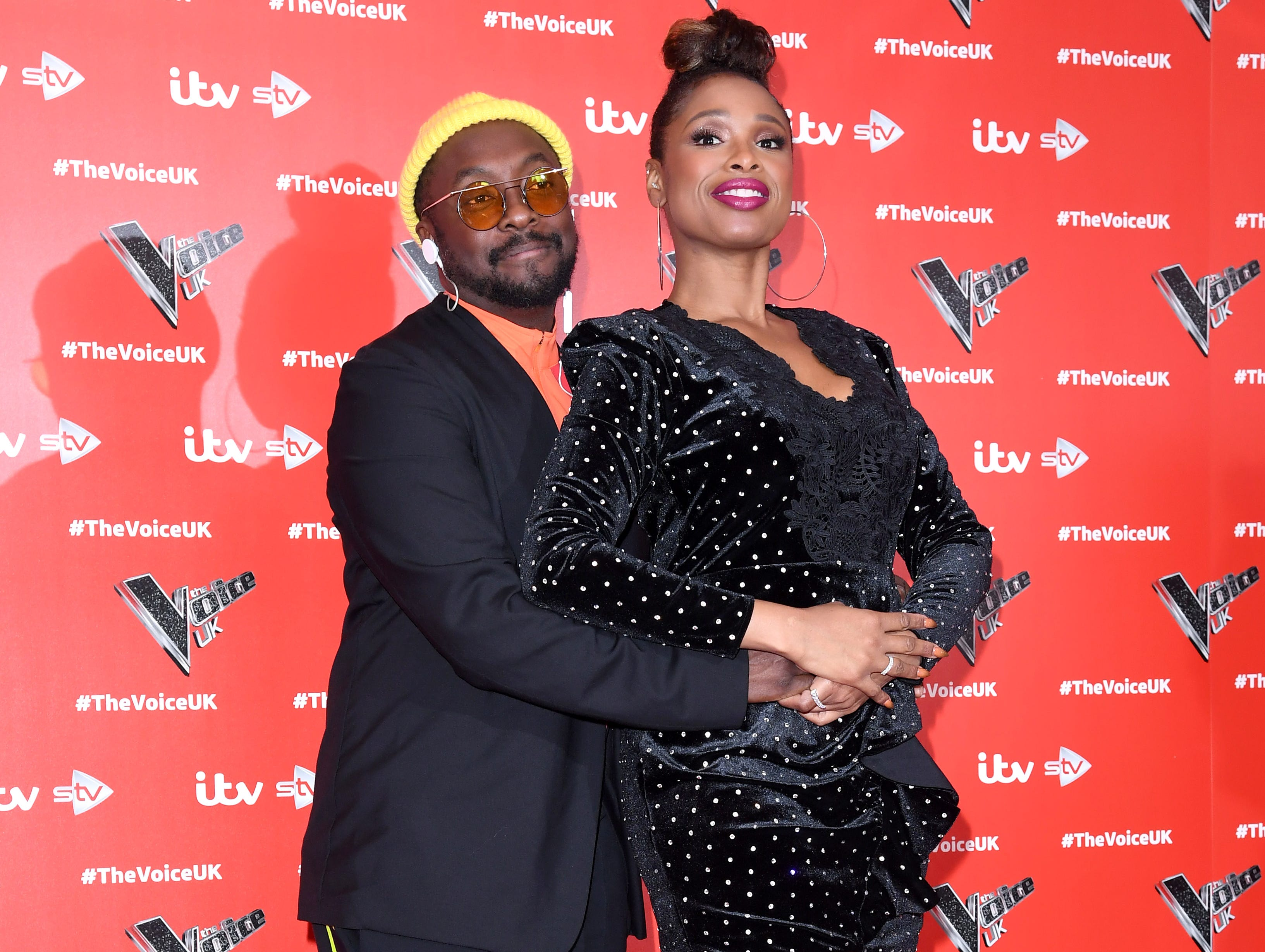 LONDON, ENGLAND - JANUARY 03:  Will.i.am and Jennifer Hudson attend The Voice UK 2019 launch at W Hotel, Leicester Sq on January 3, 2019 in London, England.  (Photo by Karwai Tang/WireImage) ORG XMIT: 775276623 ORIG FILE ID: 1076635562