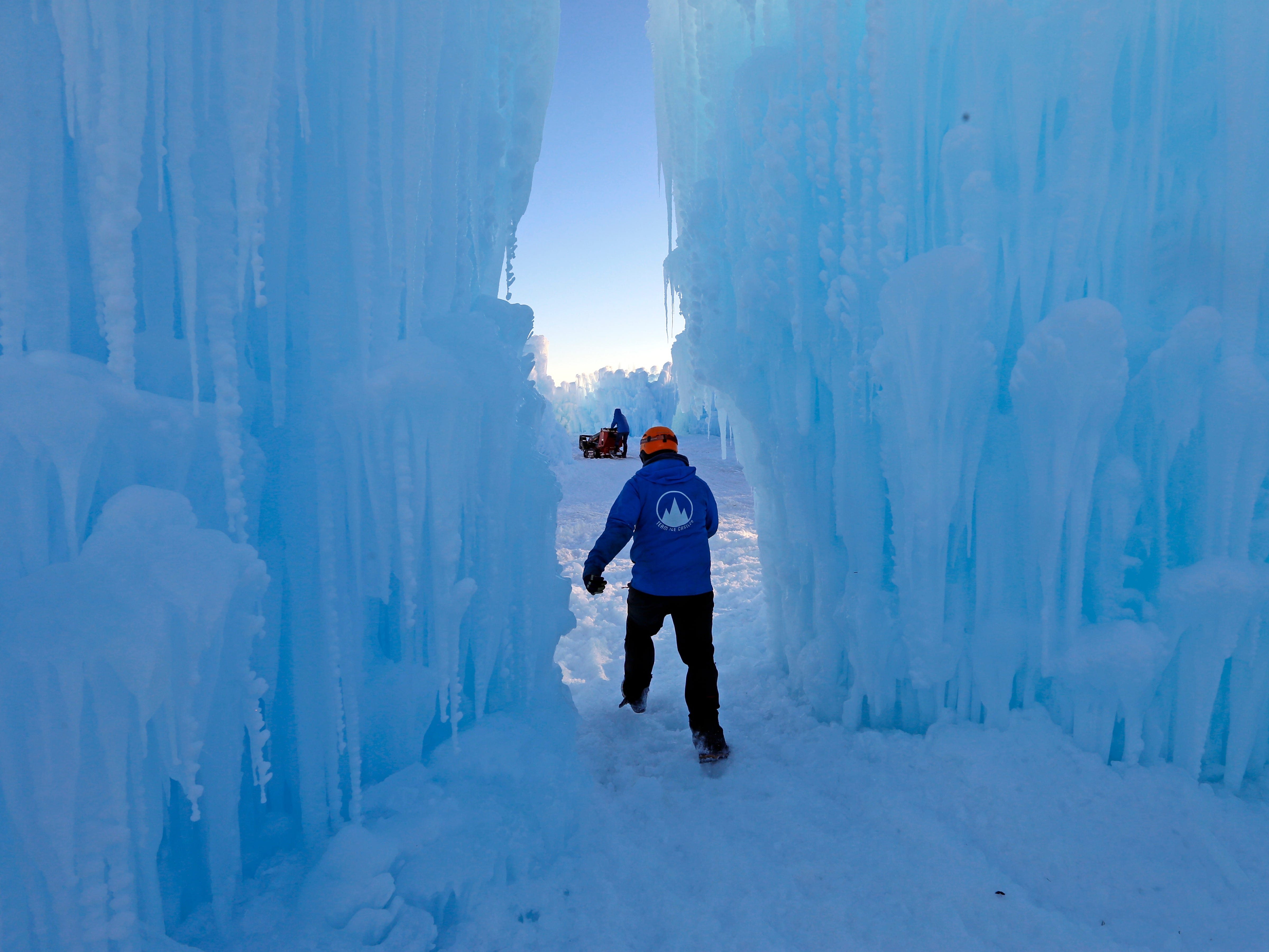 Midway Ice Castles take shape as artisans construct popular winter attraction Jan. 2, 2019, in Midway, Utah.