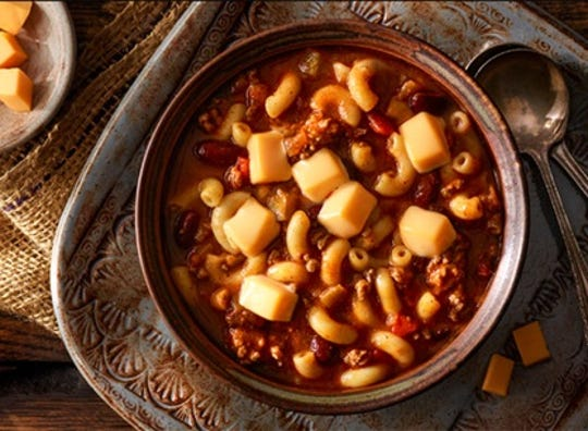 Chili and mac & cheese make for a delicious combination.