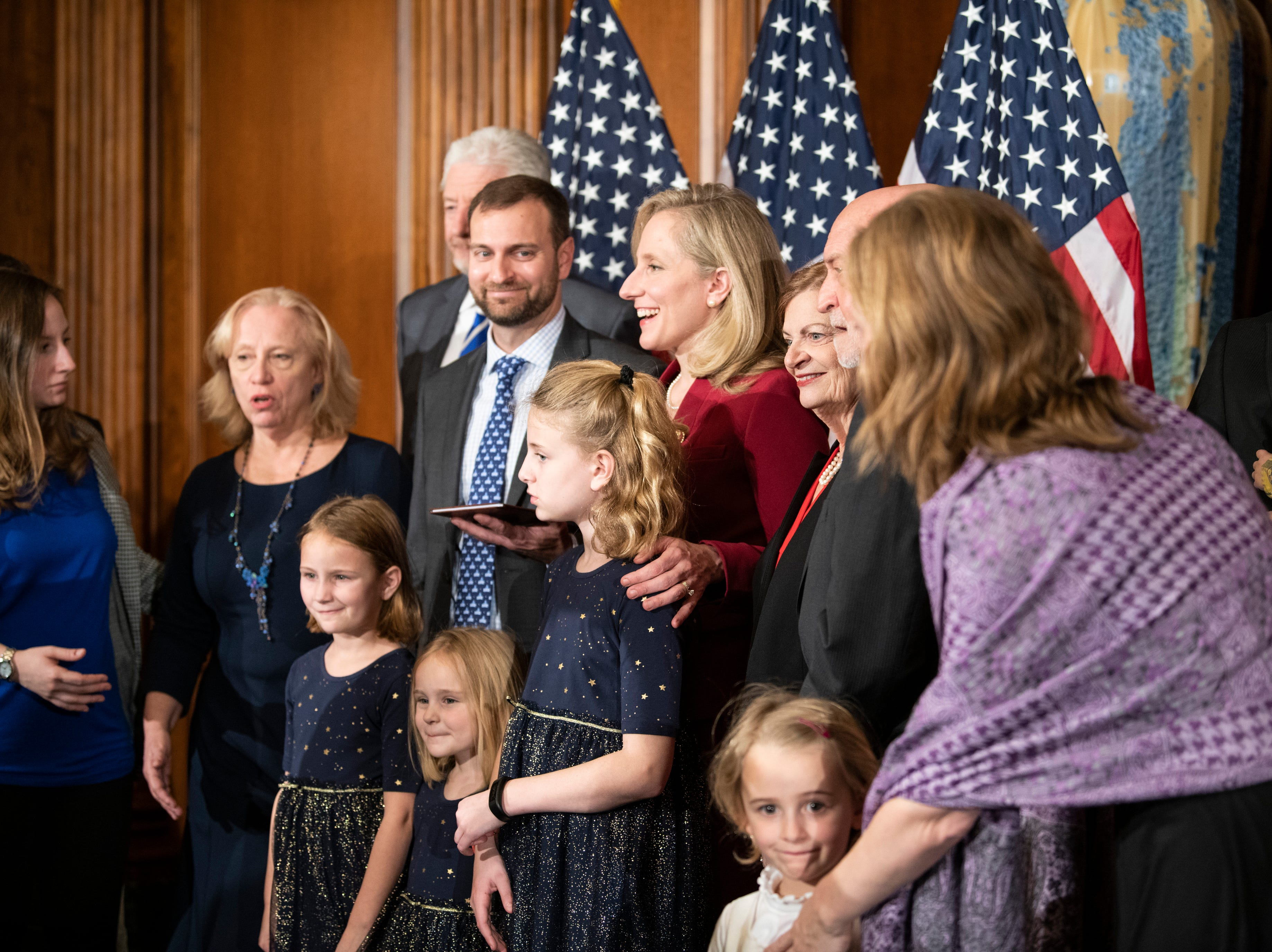 Congresswoman Abigail Spanberger (D, VA) is sworn in as a member of the 116th Congress surrounded by family.