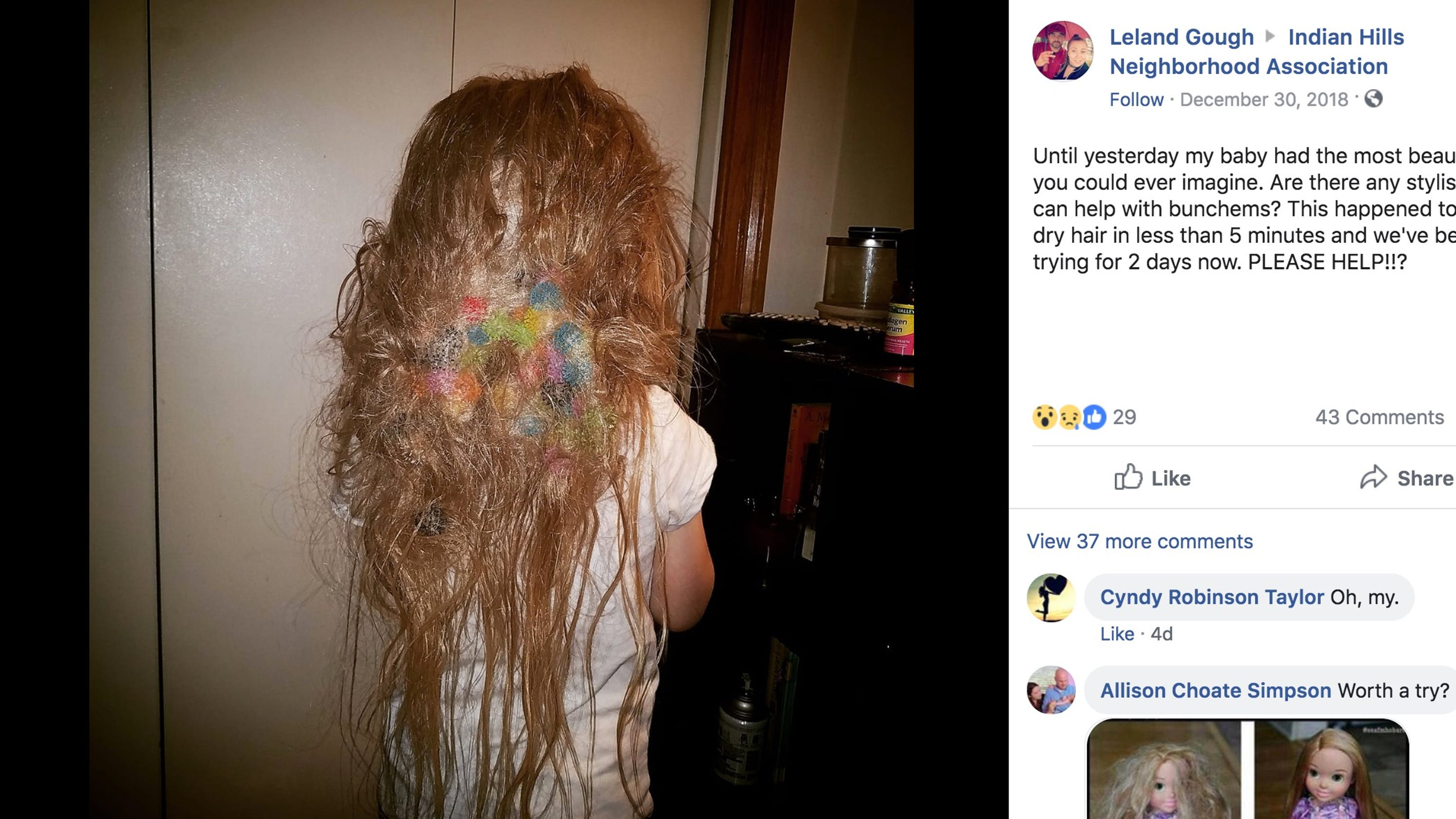 Over 50 Bunchems Tangled In Hair Arkansas Mom Warns Parents About Toy