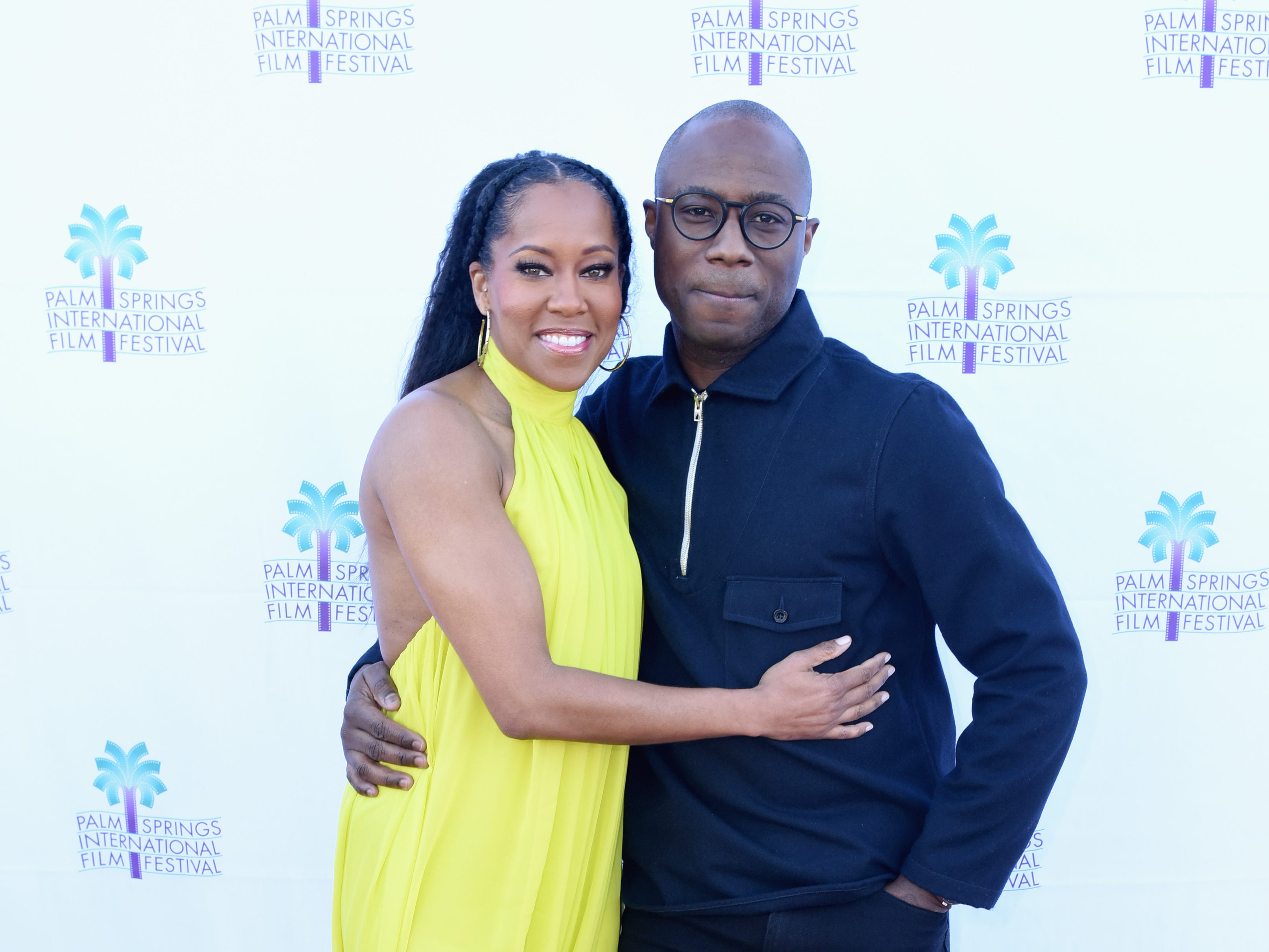 "PALM SPRINGS, CA - JANUARY 03:  Regina King (L) and Barry Jenkins attend the screening of ""If Beale Street Could Talk"" at the 30th Annual Palm Springs International Film Festival on January 3, 2019 in Palm Springs, California.  (Photo by Vivien Killilea/Getty Images for Palm Springs International Film Festival ) ORG XMIT: 775276817 ORIG FILE ID: 1076912496"