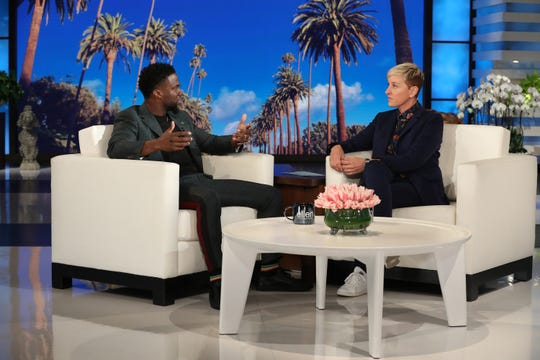 "Kevin Hart appears on ""The Ellen DeGeneres Show"" Friday, Jan. 4, 2019."