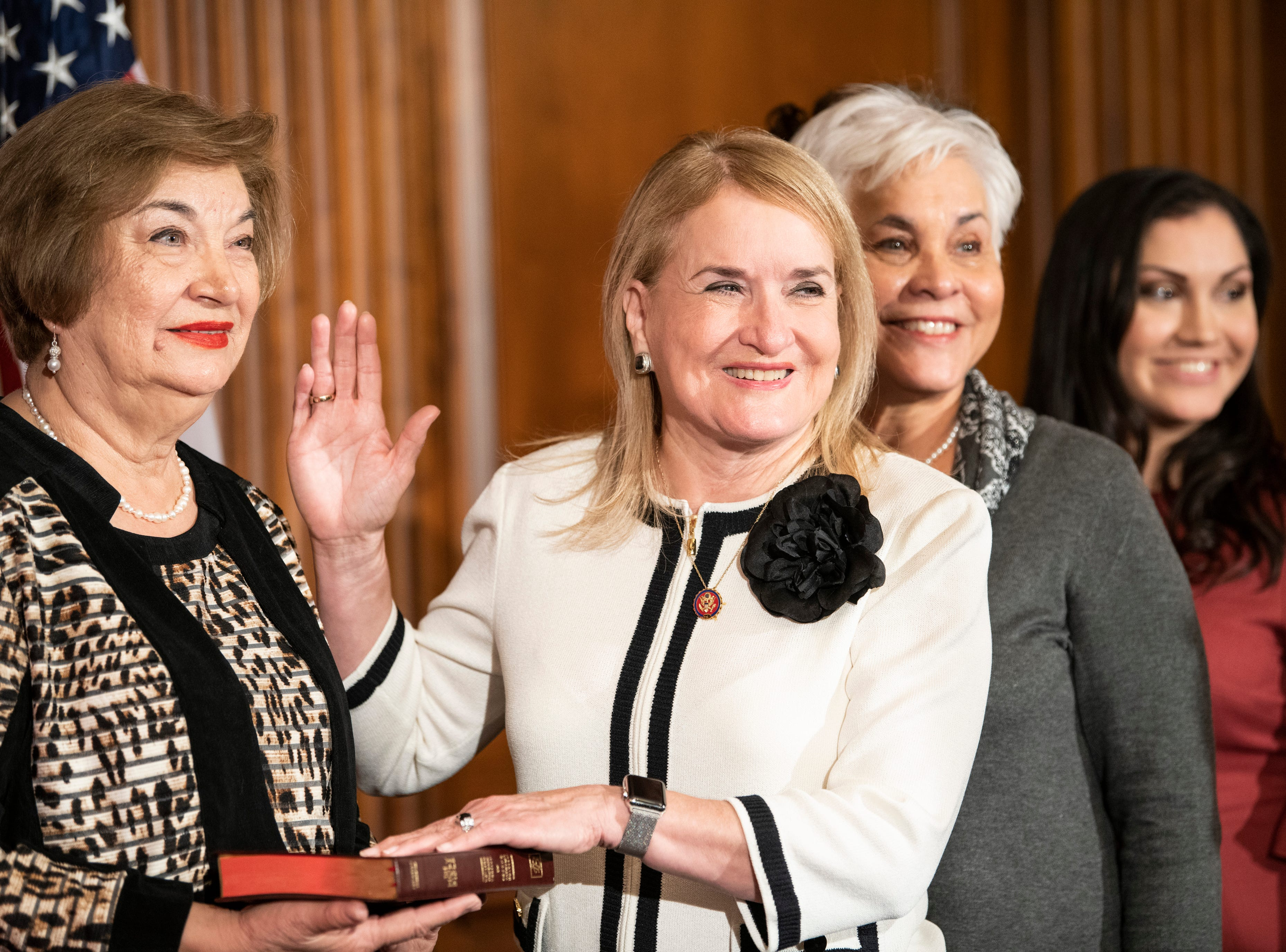 Rep. Sylvia Garcia (D, TX) is sworn in.