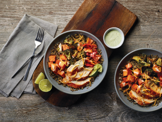 This Southwestern-inspired meal is easy to make.