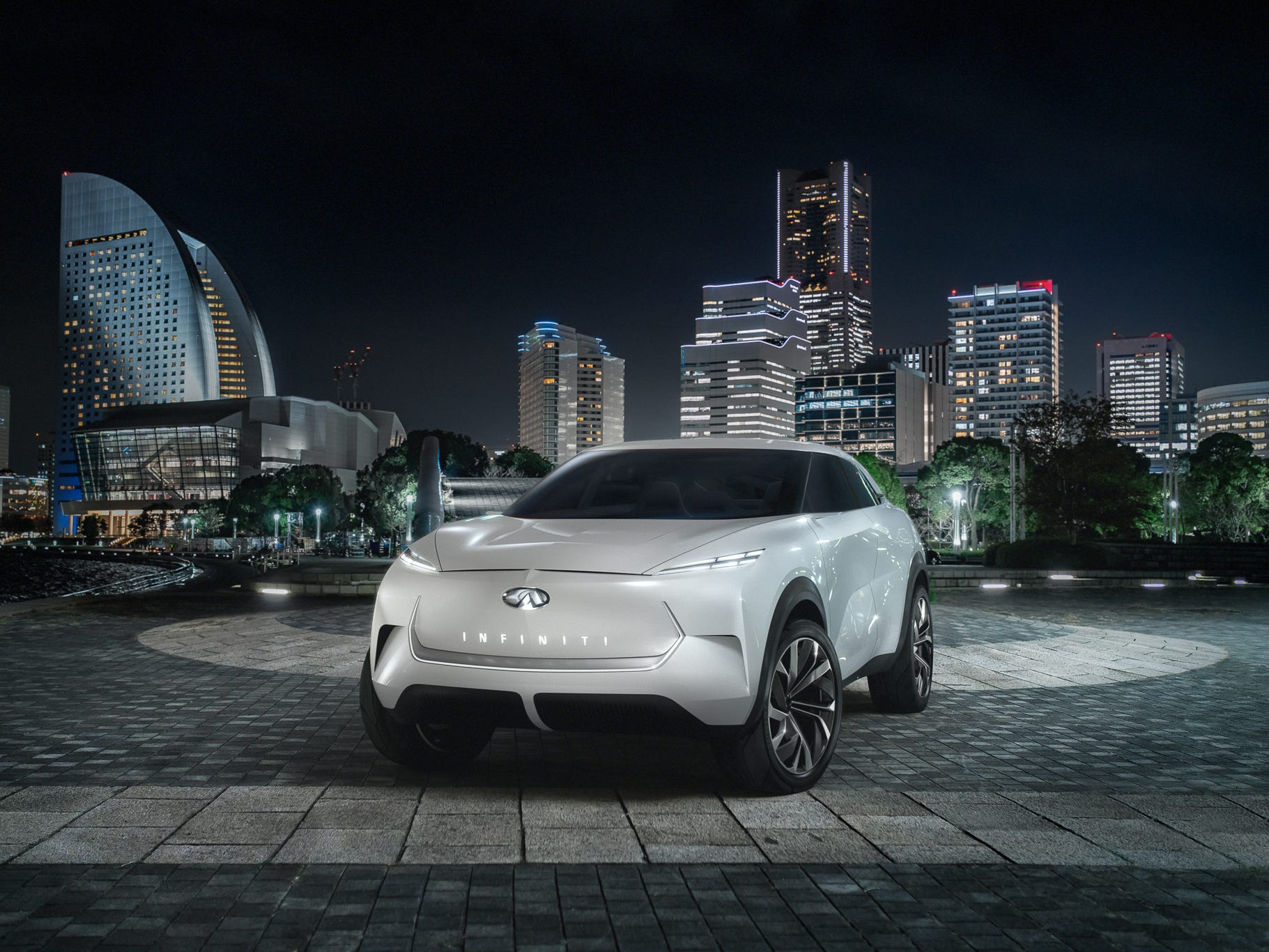 The Infiniti QX Inspiration electric SUV concept.