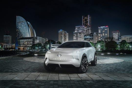 The Infiniti QX Inspiration electric SUV concept.