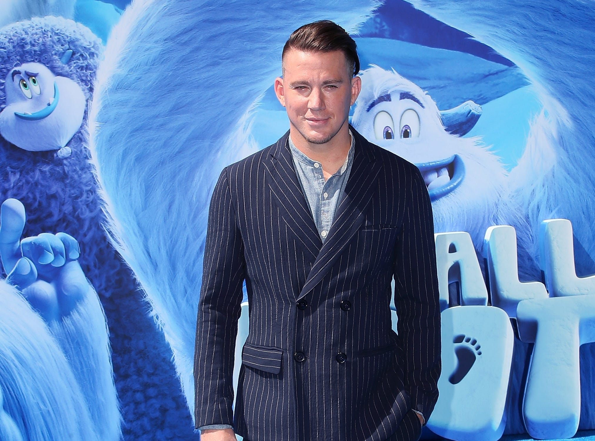 """WESTWOOD, CA - SEPTEMBER 22:  Channing Tatum attends the premiere of Warner Bros. Pictures' """"Smallfoot"""" at Regency Village Theatre on September 22, 2018 in Westwood, California.  (Photo by David Livingston/Getty Images) ORG XMIT: 775223558 ORIG FILE ID: 1038014524"""