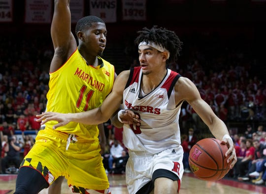 Maryland vs Rutgers Men's Basketball in Piscataway, Nj on January 5, 2019