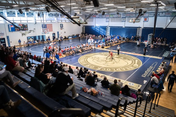 Eblen Charities sponsored the Headlock on Hunger wrestling tournament Saturday, at Enka High School Jan. 5, 2018.
