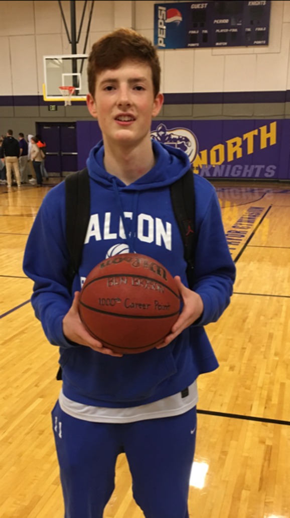 West Henderson junior Ben Bryson got his 1,000th career point on Friday