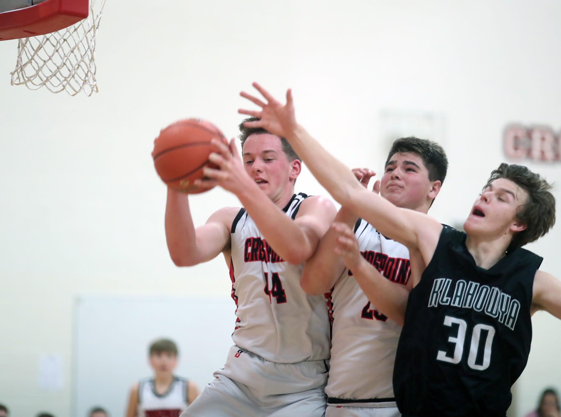 The Crosspoint boys basketball team played Klahowya at Crosspoint on Friday, December, 4, 2019.