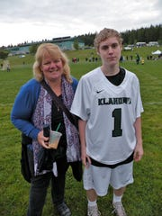Jon Tammen, right, pictured with his surrogate mother Melissa.