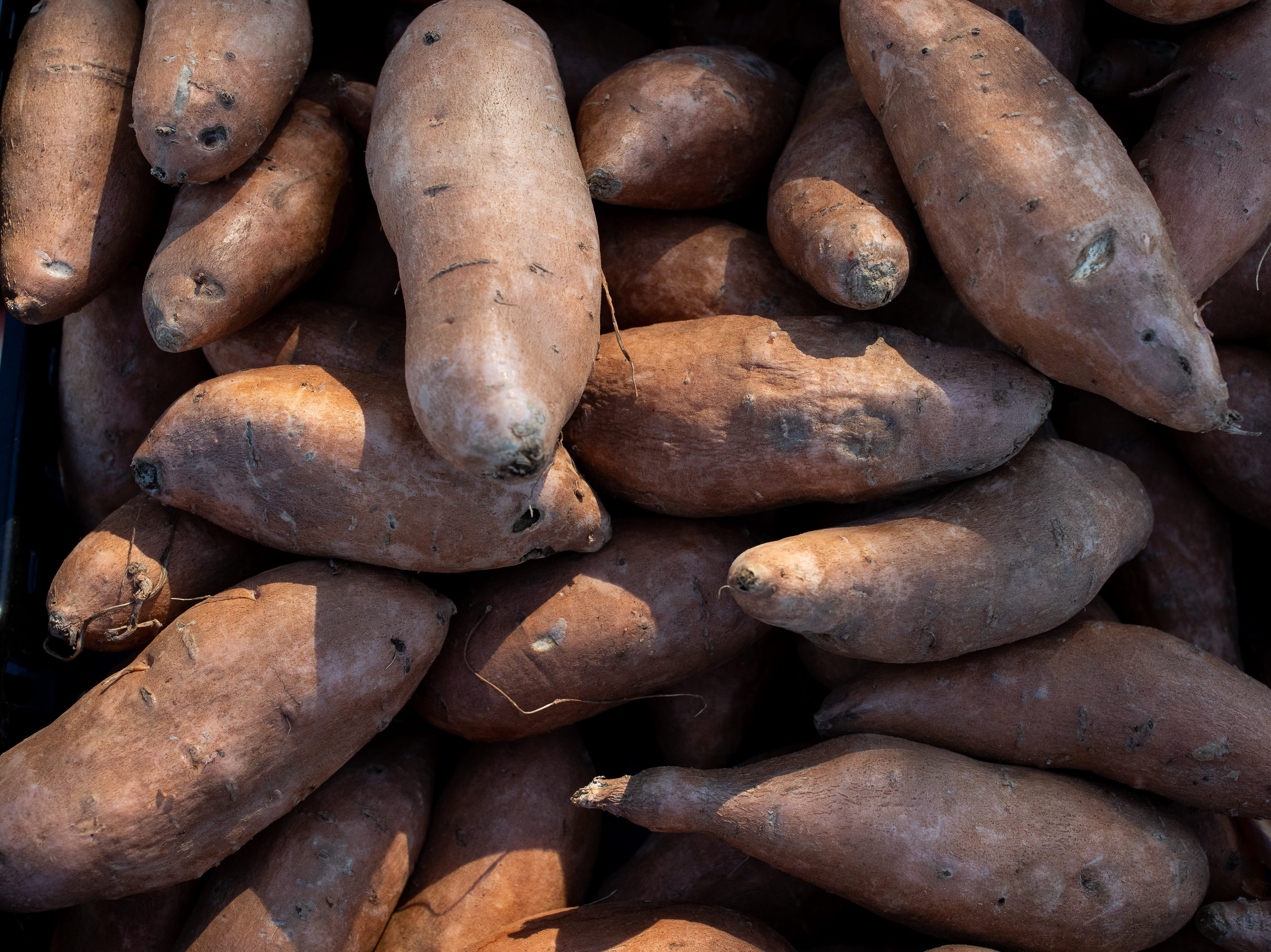 Sweet potatoes at the Corpus Christi Southside Farmers' Market located at 5800 Everhart Road on Saturday, Jan. 5, 2019.
