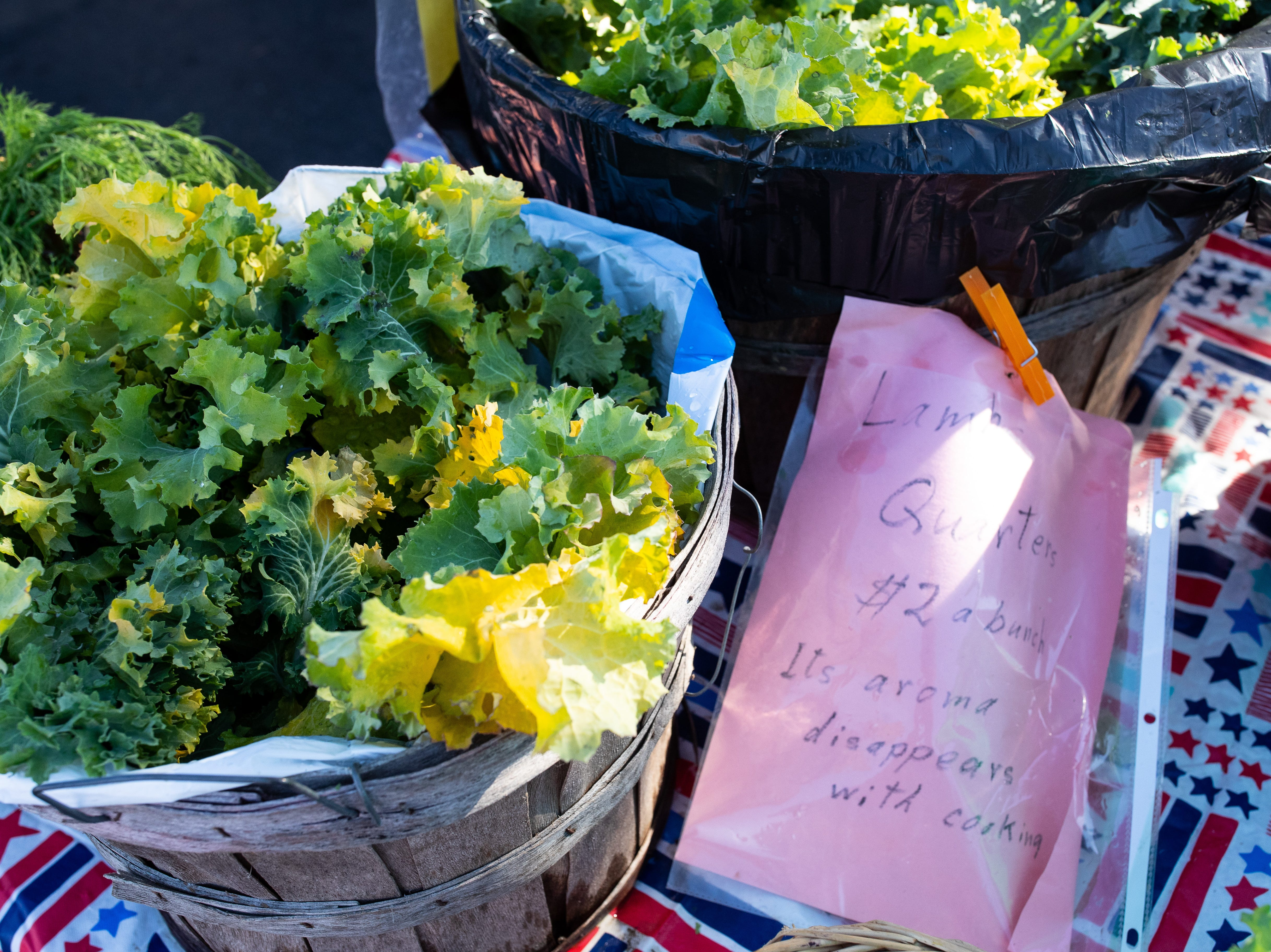 Greens for sale at the Corpus Christi Southside Farmers' Market located at 5800 Everhart Road on Saturday, Jan. 5, 2019.