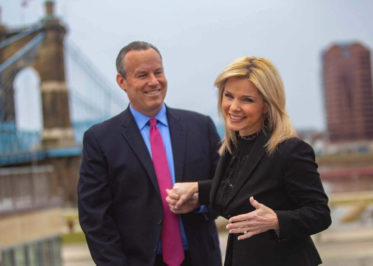 Mike Dardis and Sheree Paolello, co-anchors at WLWT News